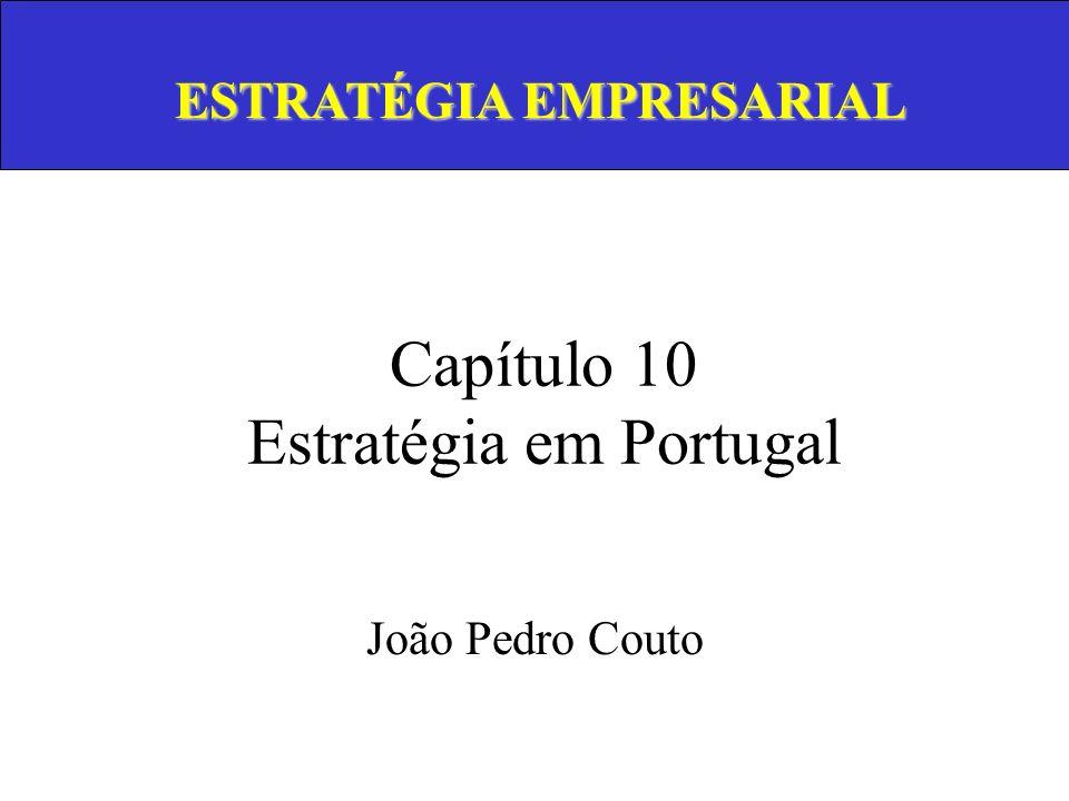 Pensamento Estratégico Análise do Meio Envolvente Missão, Objectivos e Estratégia Análise da Empresa Produtos-Mercados Desenvolvimento Empresarial Diversificação Análise Estratégica InternacionalizaçãoIntegração Vertical Estrutura Organizacional Política de Gestão Organização e Implementação Estratégia em Portugal 1.1 Formulação da Estratégia