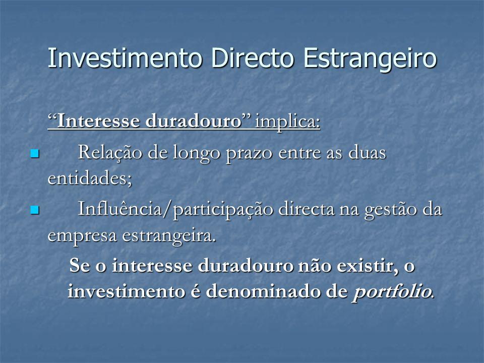 Interesse duradouro implica:Interesse duradouro implica: Relação de longo prazo entre as duas entidades; Relação de longo prazo entre as duas entidade