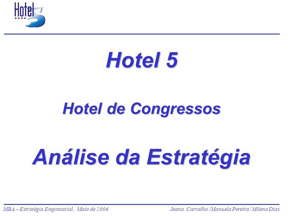Jeana Carvalho /Manuela Pereira/ Milena Dias MBA – Estratégia Empresarial, Maio de 2006Jeana Carvalho /Manuela Pereira/ Milena Dias 2 Identificação O Hotel 5 pertence ao grupo Ciprotur.