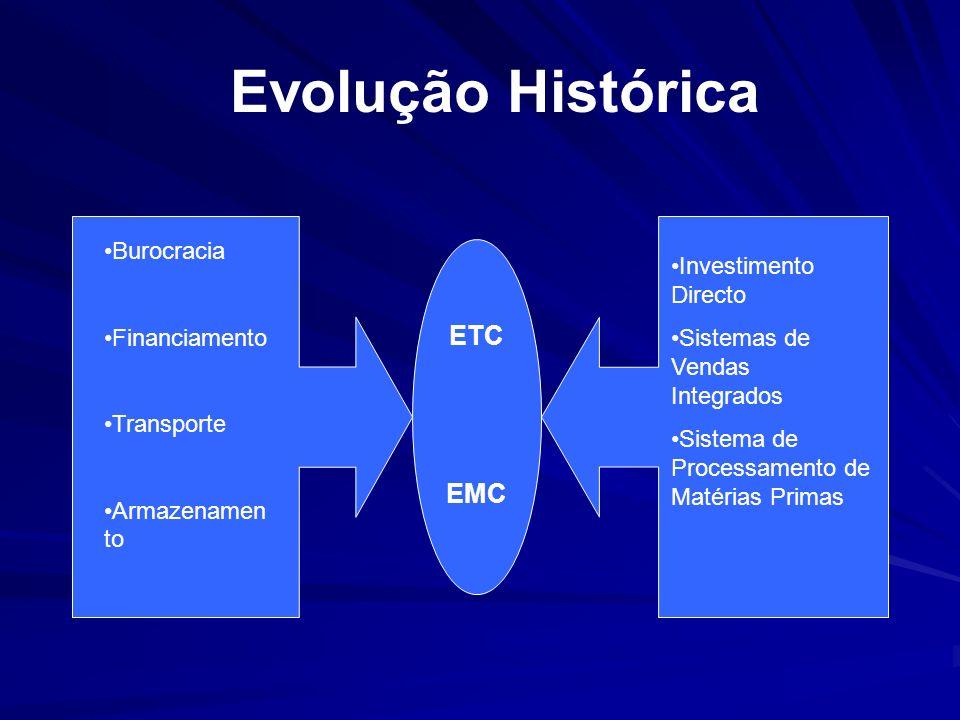Burocracia Financiamento Transporte Armazenamen to Investimento Directo Sistemas de Vendas Integrados Sistema de Processamento de Matérias Primas ETC