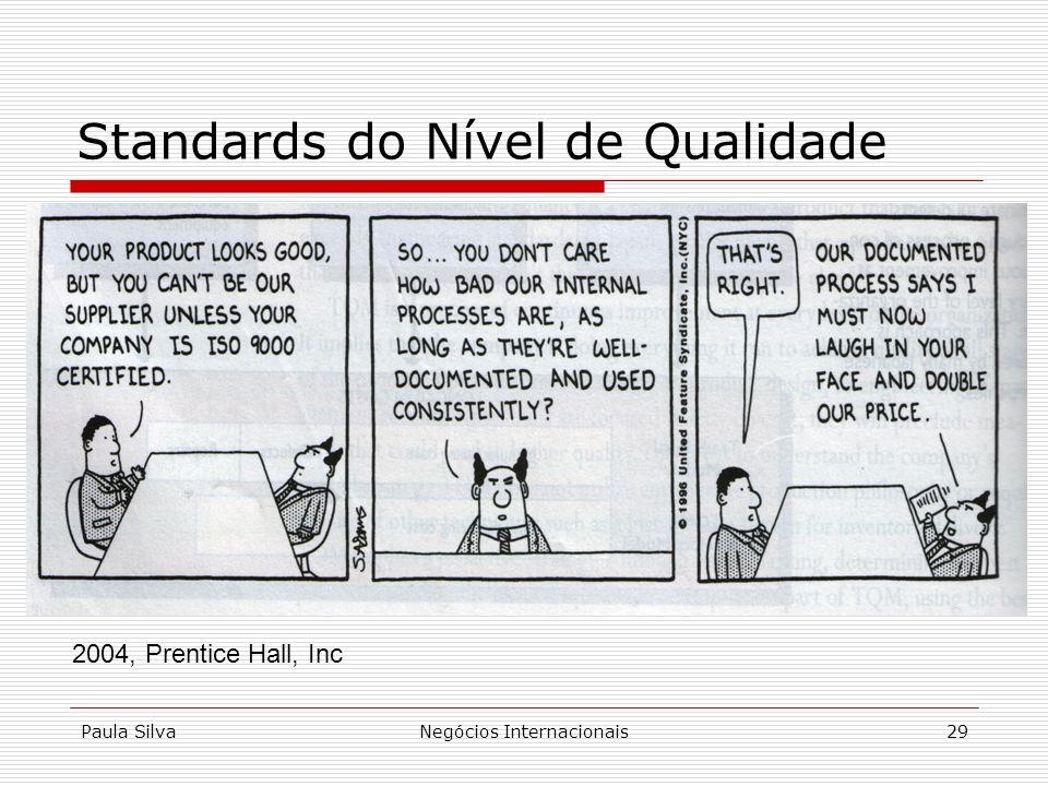 Paula SilvaNegócios Internacionais29 Standards do Nível de Qualidade 2004, Prentice Hall, Inc