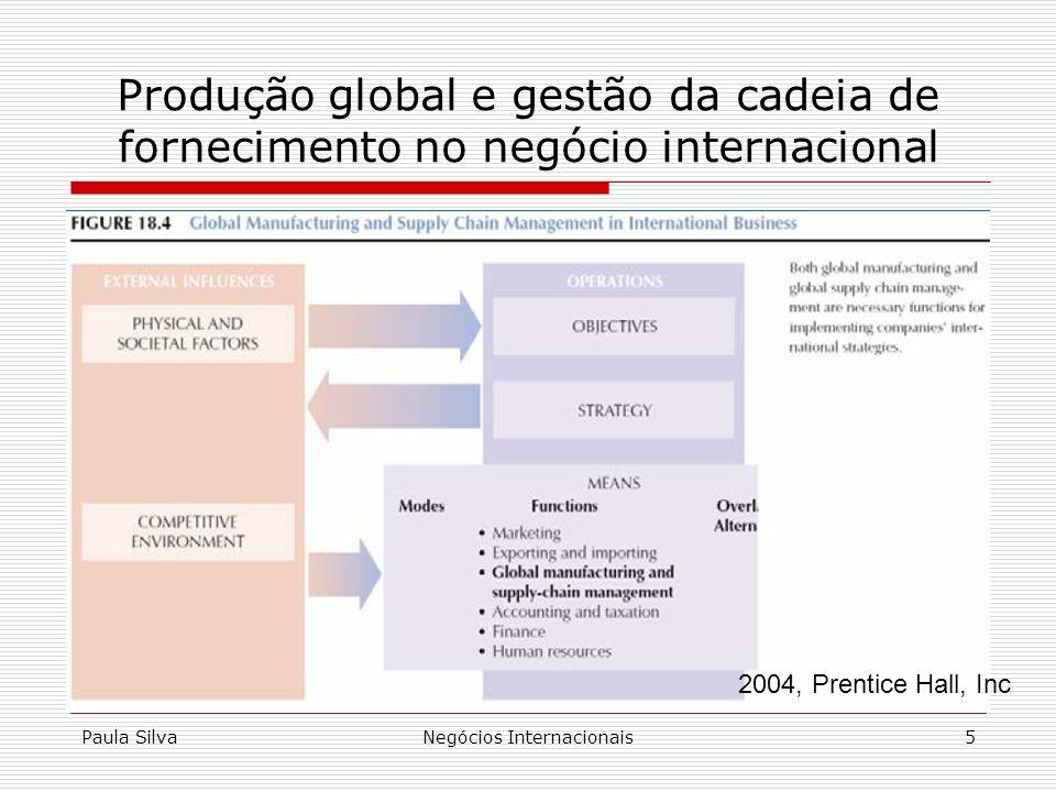 Paula SilvaNegócios Internacionais5 Produção global e gestão da cadeia de fornecimento no negócio internacional 2004, Prentice Hall, Inc