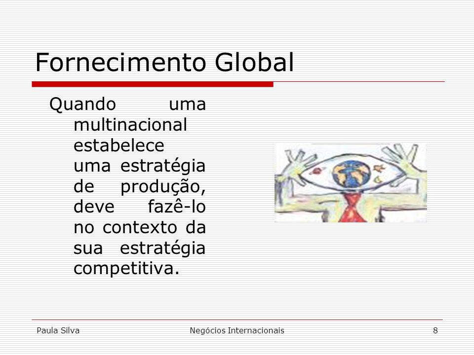 Paula SilvaNegócios Internacionais8 Quando uma multinacional estabelece uma estratégia de produção, deve fazê-lo no contexto da sua estratégia competi