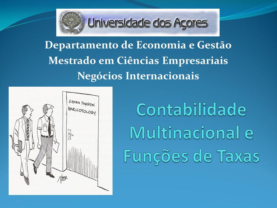 Departamento de Economia e Gestão Mestrado em Ciências Empresariais Negócios Internacionais