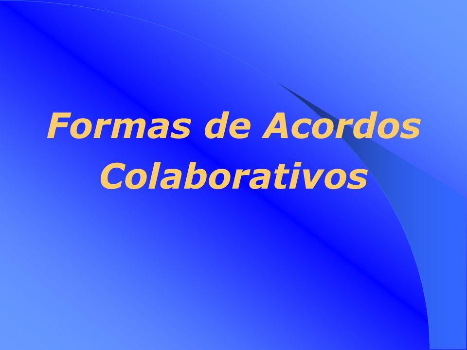 Medidas Colaborativas Considerações Variáveis chave na determinação das medidas colaborativas apropriadas: Controlo Mais flexibilidade Mais receitas M