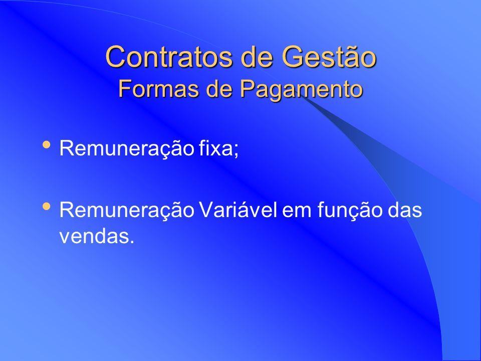 Contratos de Gestão Investidor assegura a construção e equipamento de um bem económico; A empresa prestadora de serviços não entra no capital da empre