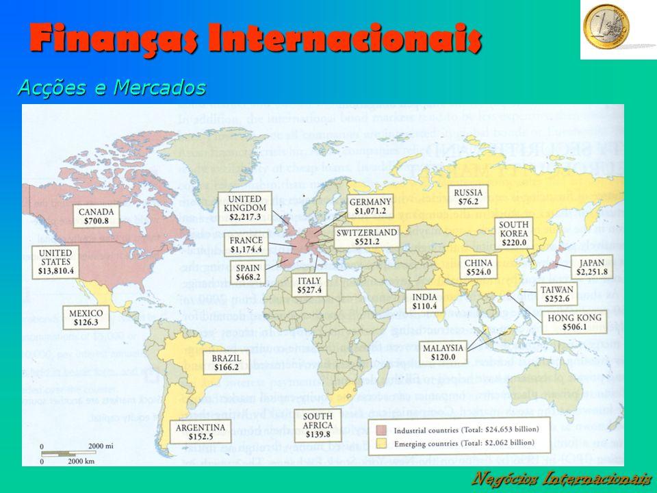 Finanças Internacionais Negócios Internacionais Acções e Mercados