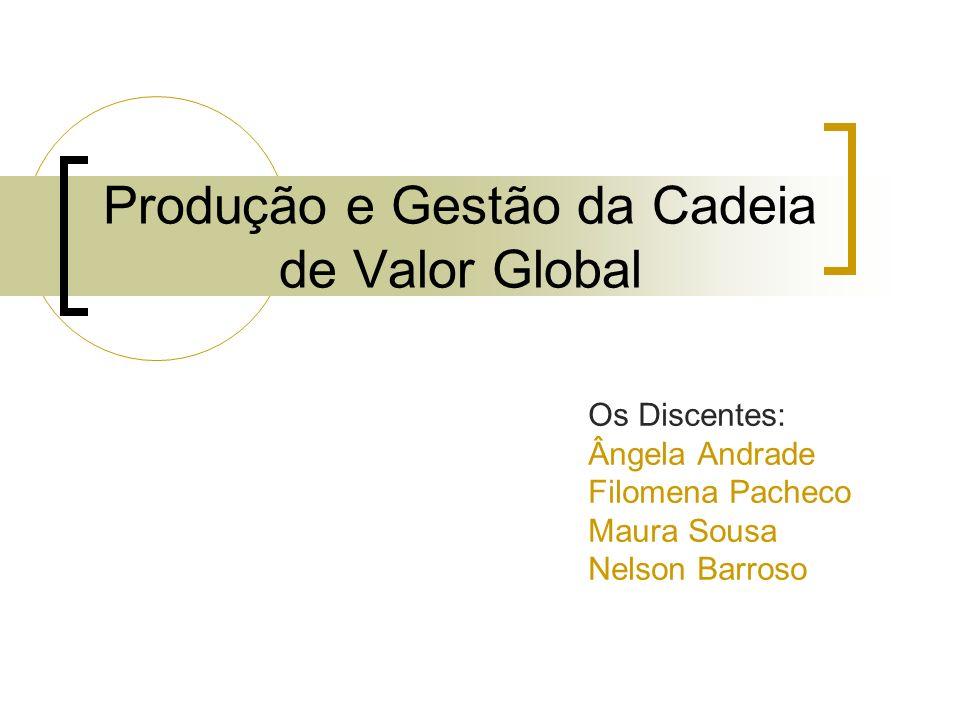 Produção e Gestão da Cadeia de Valor Global Os Discentes: Ângela Andrade Filomena Pacheco Maura Sousa Nelson Barroso