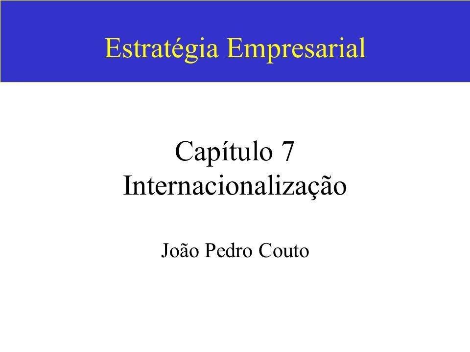 Estratégia Empresarial Capítulo 7 Internacionalização João Pedro Couto