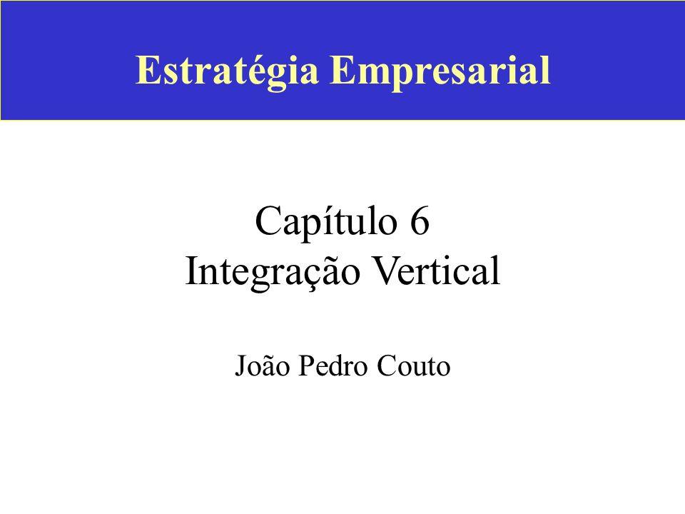 Estratégia Empresarial Capítulo 6 Integração Vertical João Pedro Couto