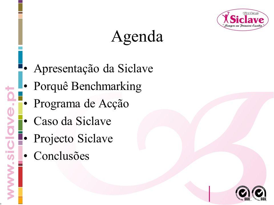 Agenda Apresentação da Siclave Porquê Benchmarking Programa de Acção Caso da Siclave Projecto Siclave Conclusões