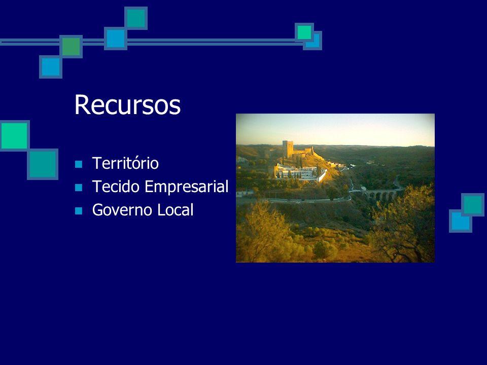 Recursos Território Tecido Empresarial Governo Local