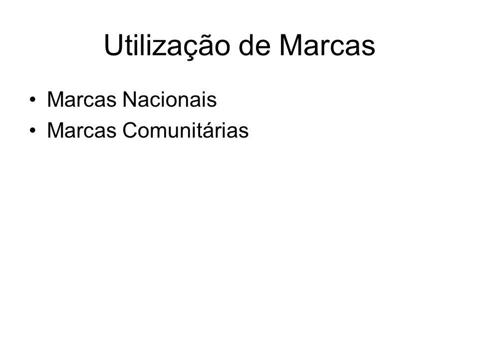 Utilização de Marcas Marcas Nacionais Marcas Comunitárias
