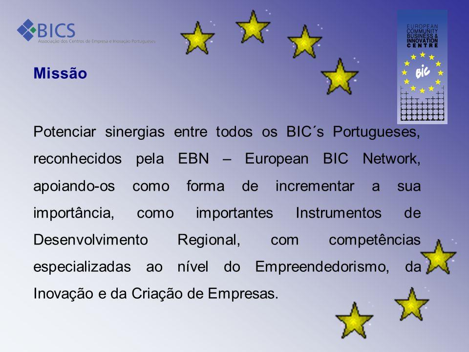Missão Potenciar sinergias entre todos os BIC´s Portugueses, reconhecidos pela EBN – European BIC Network, apoiando-os como forma de incrementar a sua