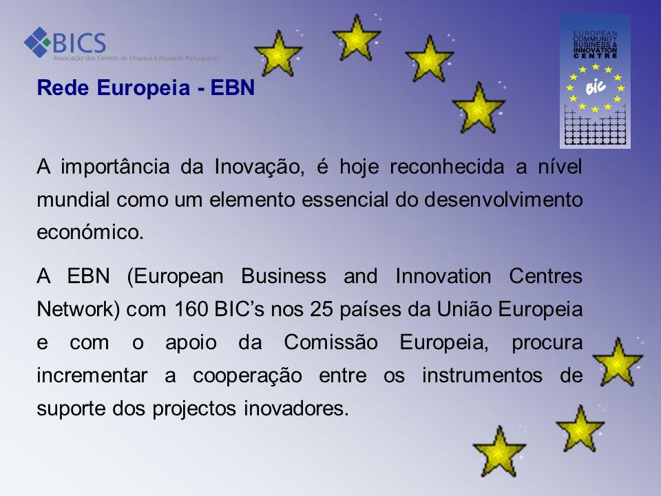 Rede Europeia - EBN A importância da Inovação, é hoje reconhecida a nível mundial como um elemento essencial do desenvolvimento económico. A EBN (Euro