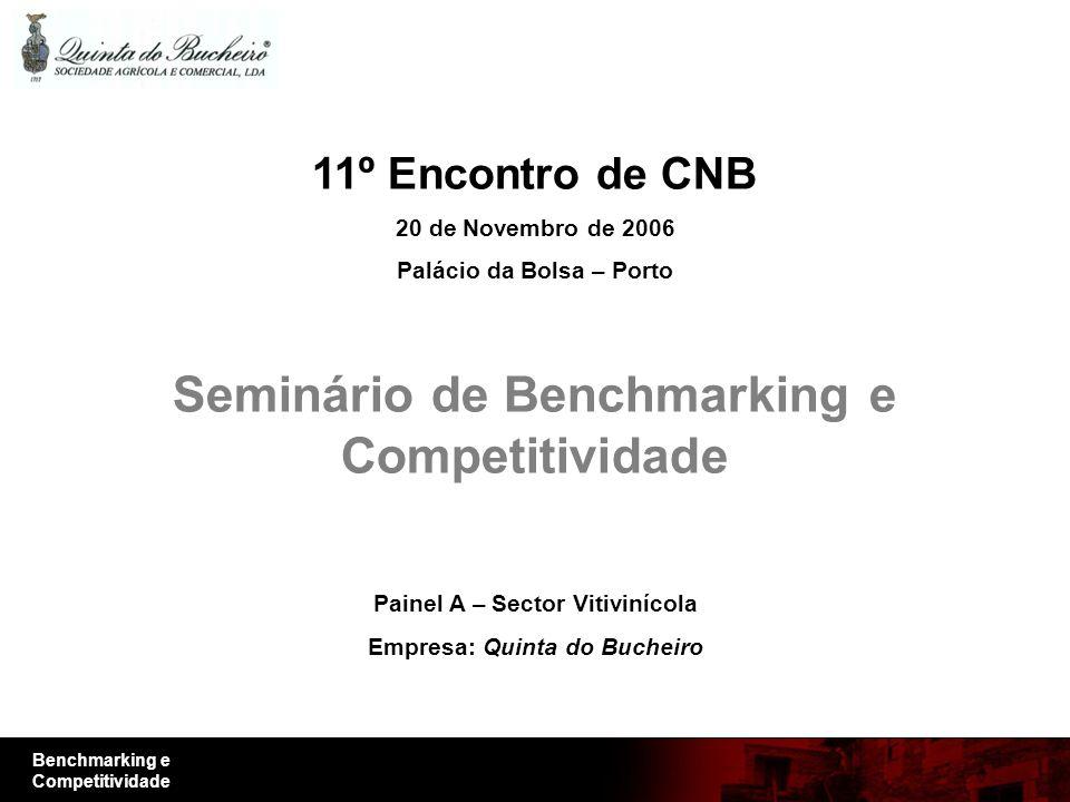 Benchmarking e Competitividade 11º Encontro de CNB 20 de Novembro de 2006 Palácio da Bolsa – Porto Seminário de Benchmarking e Competitividade Painel A – Sector Vitivinícola Empresa: Quinta do Bucheiro