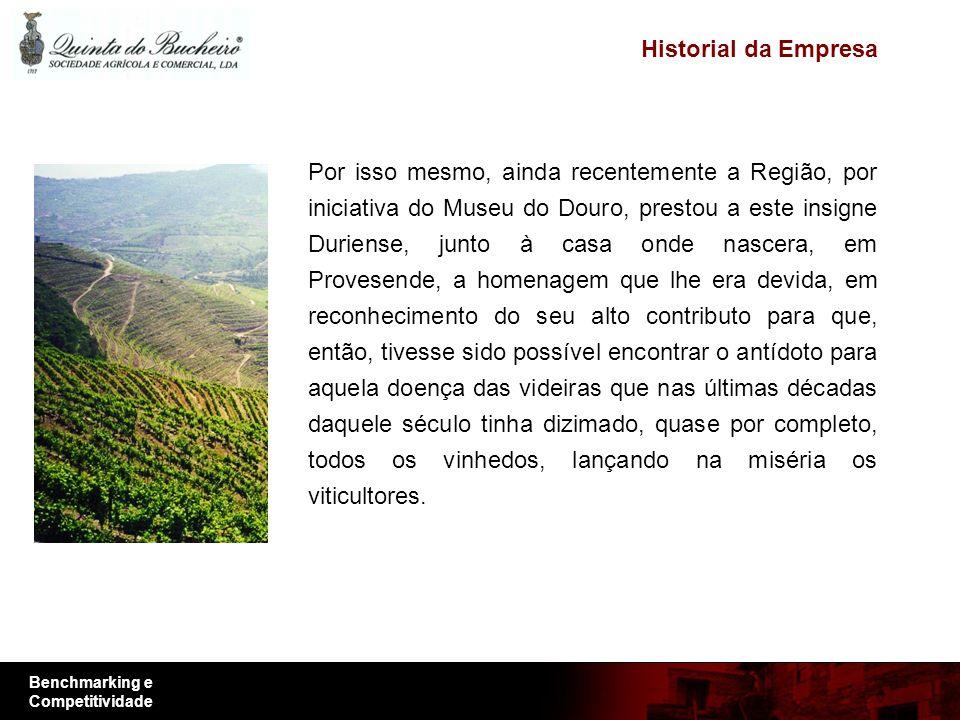 Benchmarking e Competitividade Mantém a tradição e os seus terrenos, tendo como objectivos a produção e comercialização dos seus vinhos cada vez com mais qualidade.