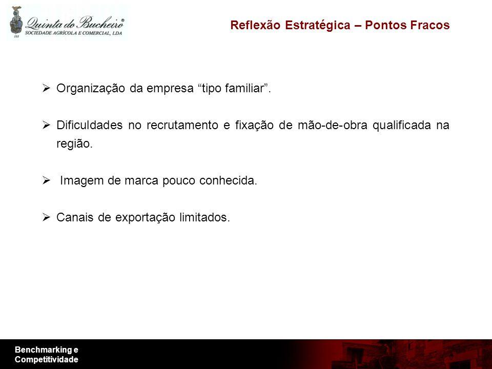 Benchmarking e Competitividade Organização da empresa tipo familiar.