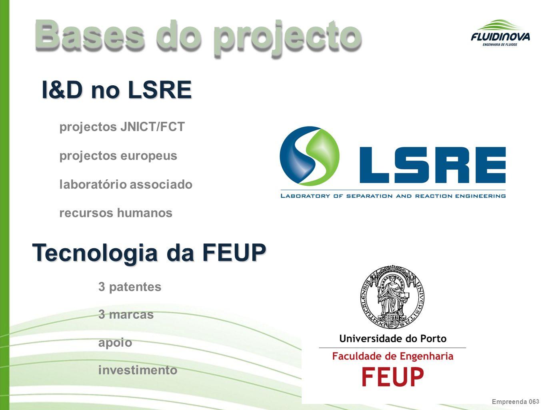 Empreenda 06 3 Bases do projecto I&D no LSRE projectos JNICT/FCT projectos europeus laboratório associado recursos humanos Tecnologia da FEUP 3 patent