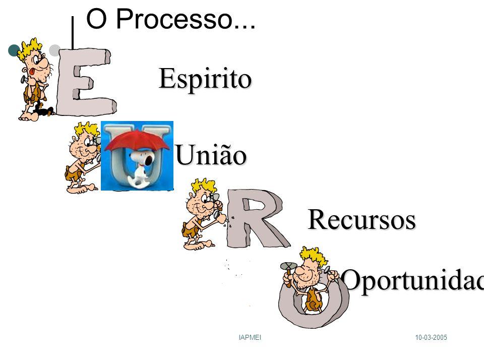 10-03-2005IAPMEI O Processo...Espirito Oportunidades Recursos União