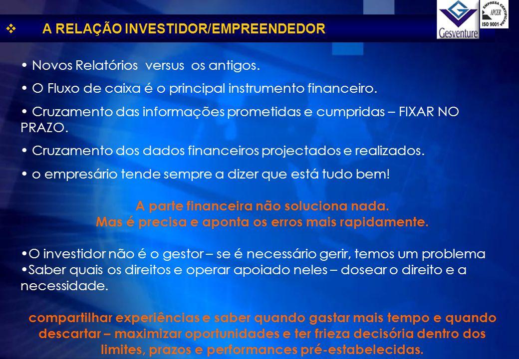 Novos Relatórios versus os antigos. O Fluxo de caixa é o principal instrumento financeiro. Cruzamento das informações prometidas e cumpridas – FIXAR N