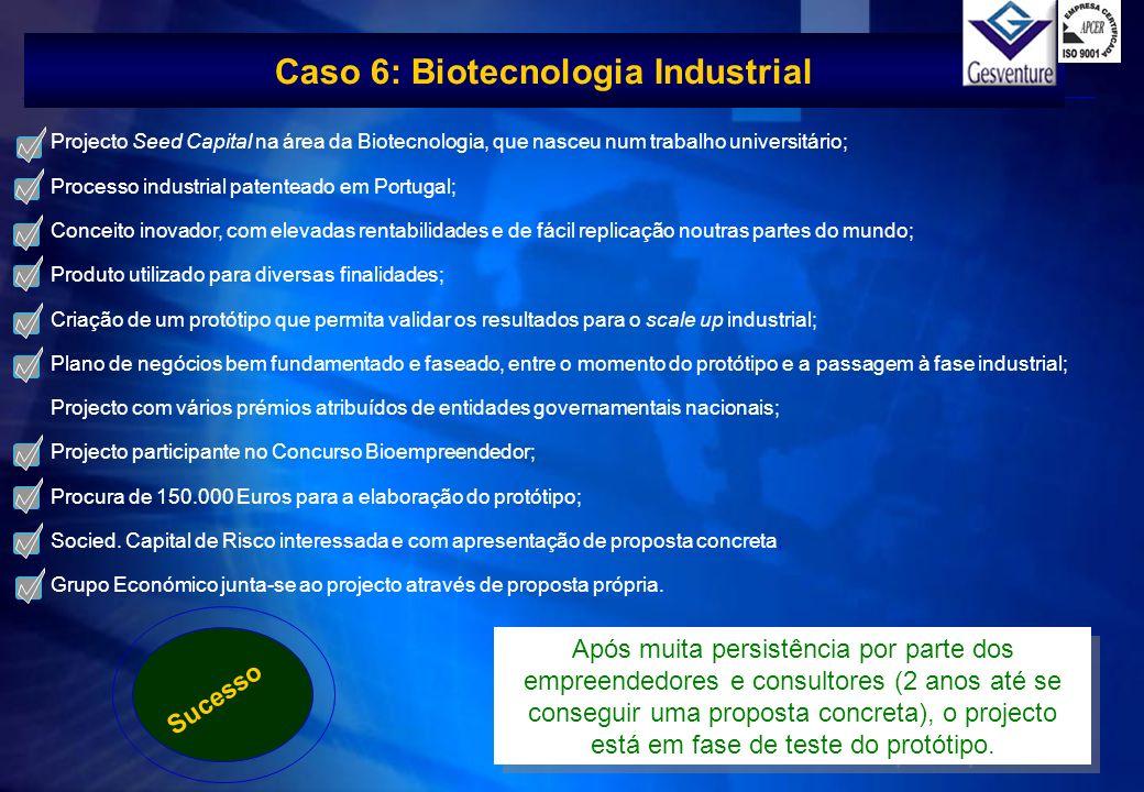 Faça clique para Projecto Seed Capital na área da Biotecnologia, que nasceu num trabalho universitário; Processo industrial patenteado em Portugal; Co
