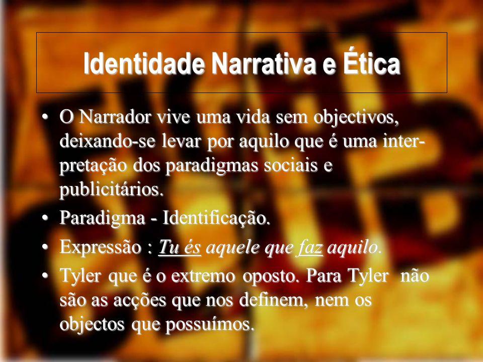 Identidade Narrativa e Ética Who am I then.