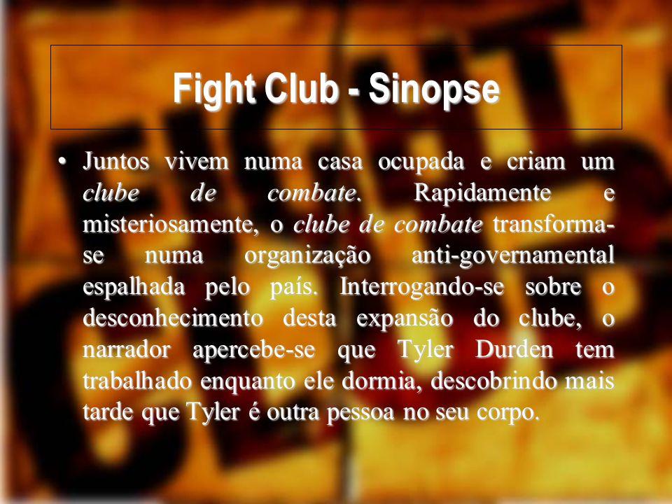 Fight Club e a Identidade Pessoal Duas pessoas num corpo.