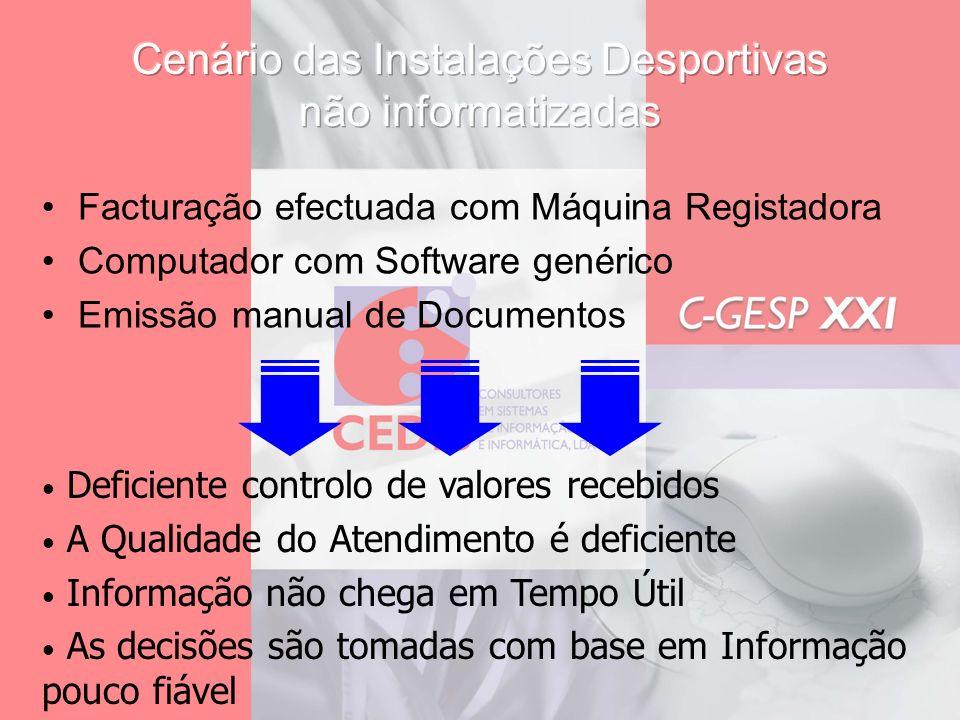Facturação efectuada com Máquina Registadora Computador com Software genérico Emissão manual de Documentos Deficiente controlo de valores recebidos A