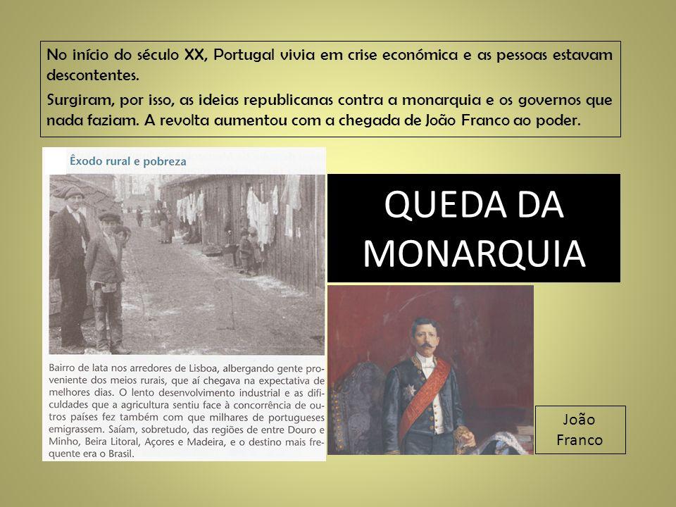 No início do século XX, Portugal vivia em crise económica e as pessoas estavam descontentes. Surgiram, por isso, as ideias republicanas contra a monar