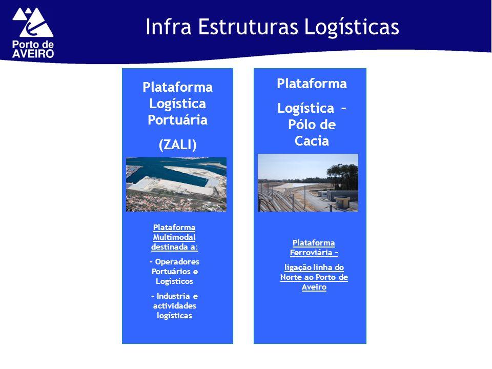 1 Terminal Granéis Líquidos: Plataforma Logística Portuária (ZALI) Infra Estruturas Logísticas Plataforma Logística – Pólo de Cacia Plataforma Multimo