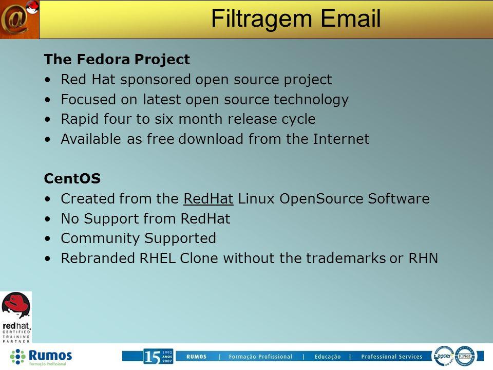 Filtragem Email