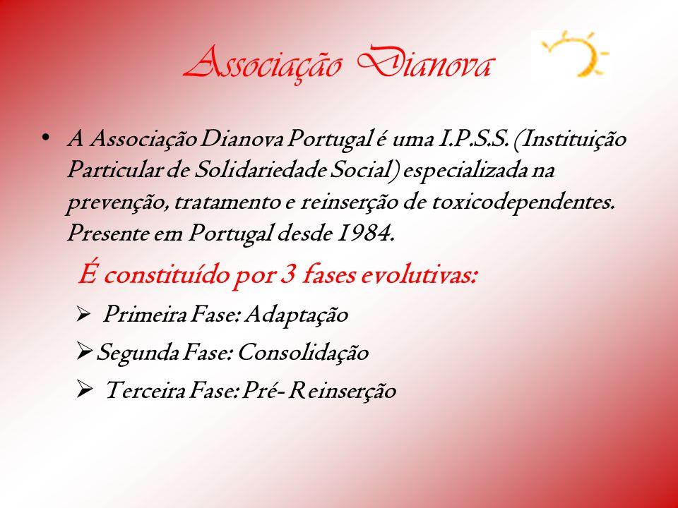 Associação Dianova A Associação Dianova Portugal é uma I.P.S.S. (Instituição Particular de Solidariedade Social) especializada na prevenção, tratament