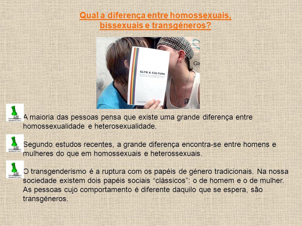 A maioria das pessoas pensa que existe uma grande diferença entre homossexualidade e heterosexualidade. Segundo estudos recentes, a grande diferença e