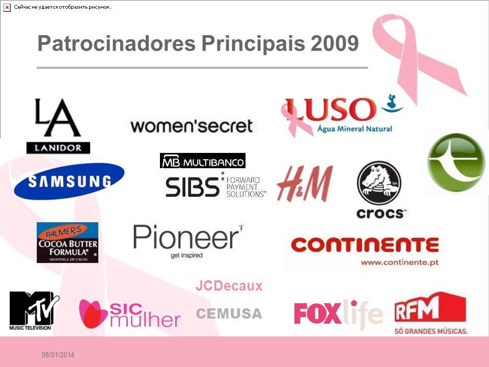 08/01/2014 Patrocinadores Principais 2009 JCDecaux CEMUSA
