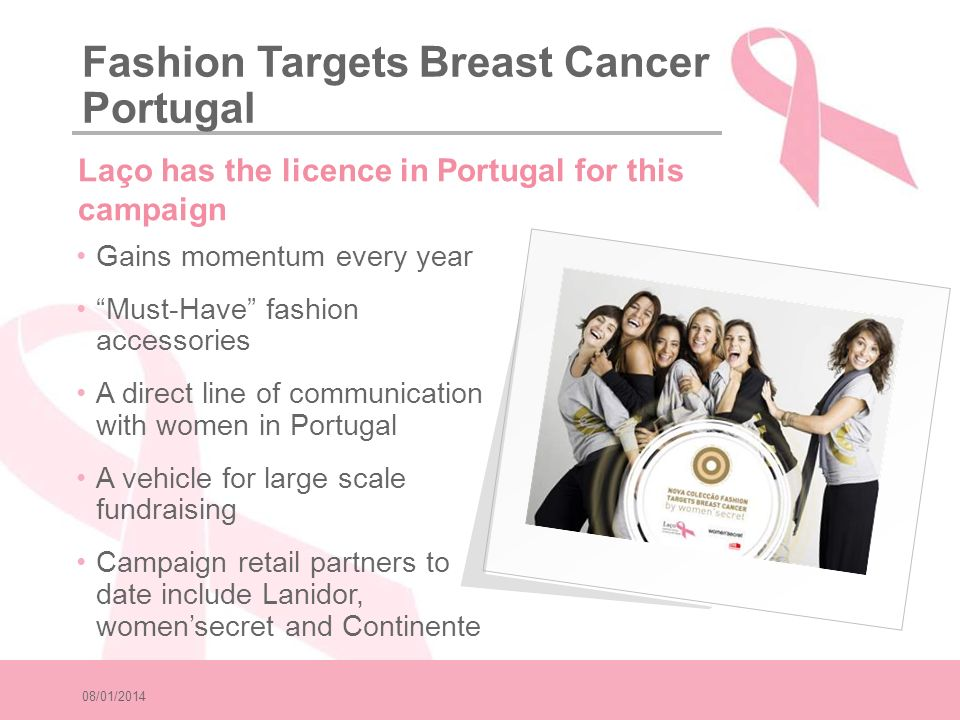 08/01/2014 Gains momentum every year Must-Have fashion accessories A direct line of communication with women in Portugal A vehicle for large scale fun