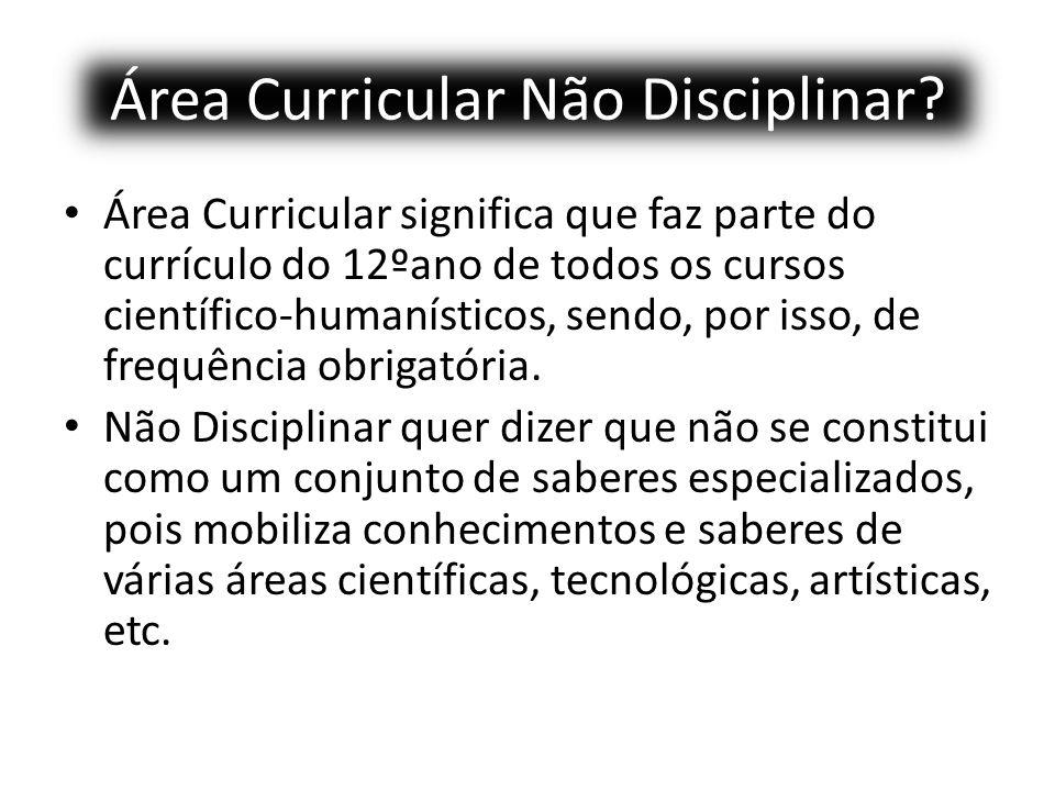 Área Curricular Não Disciplinar.