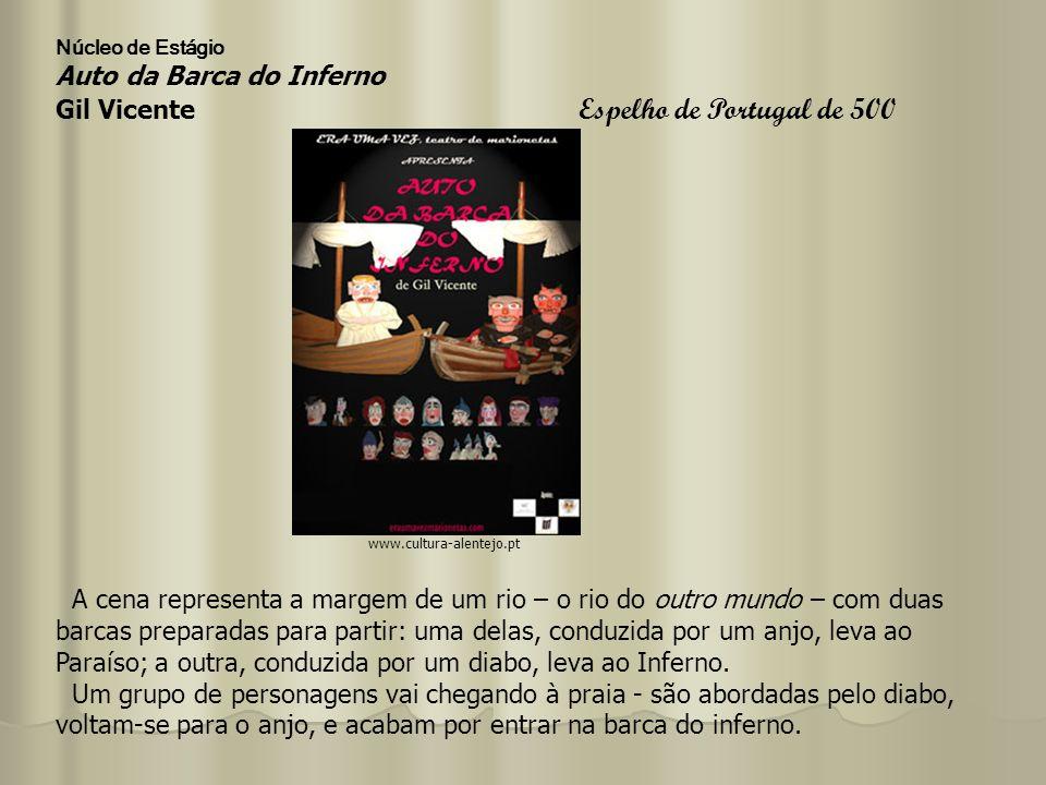 Auto da Barca do Inferno Gil Vicente Actividade: Recolher informações da audição da cena do Fidalgo, quanto a: 1.