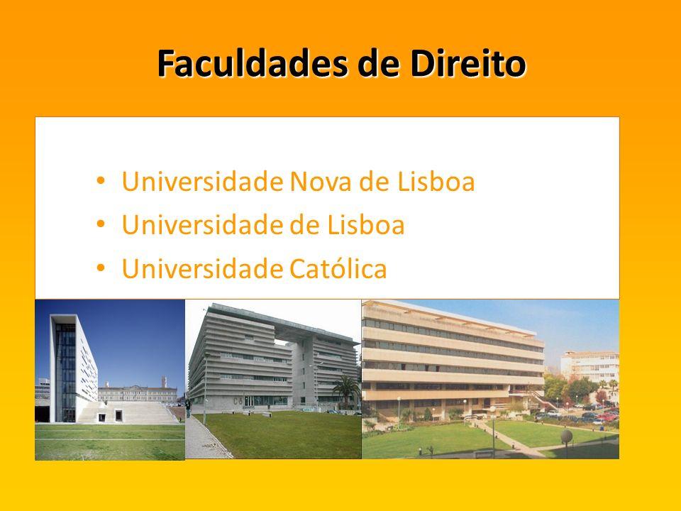 Faculdades de Direito Universidade Nova de Lisboa Universidade de Lisboa Universidade Católica