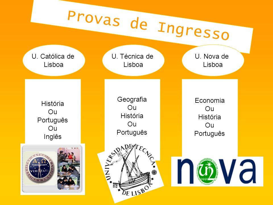 U.Católica de Lisboa U. Técnica de Lisboa U.