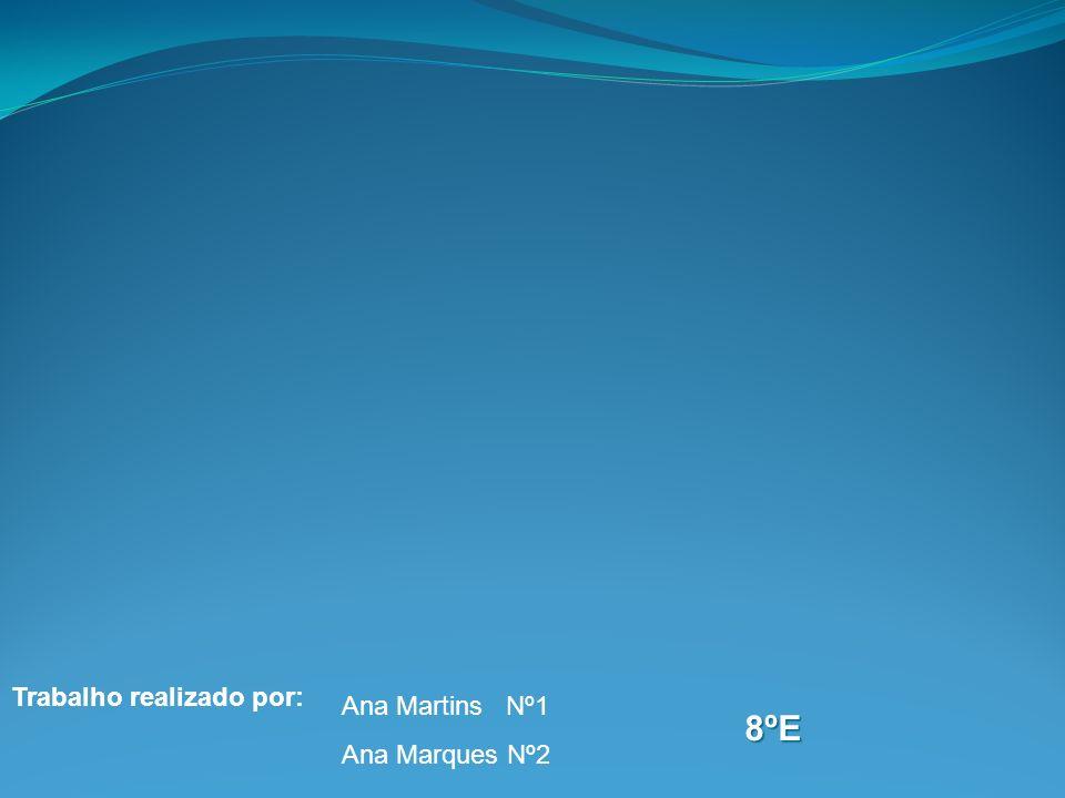 Trabalho realizado por: Ana Martins Nº1 Ana Marques Nº2 8ºE