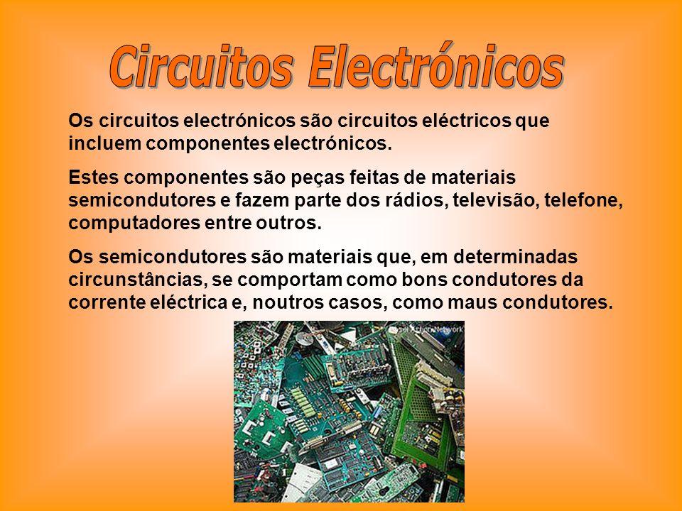 Os circuitos electrónicos são circuitos eléctricos que incluem componentes electrónicos. Estes componentes são peças feitas de materiais semicondutore