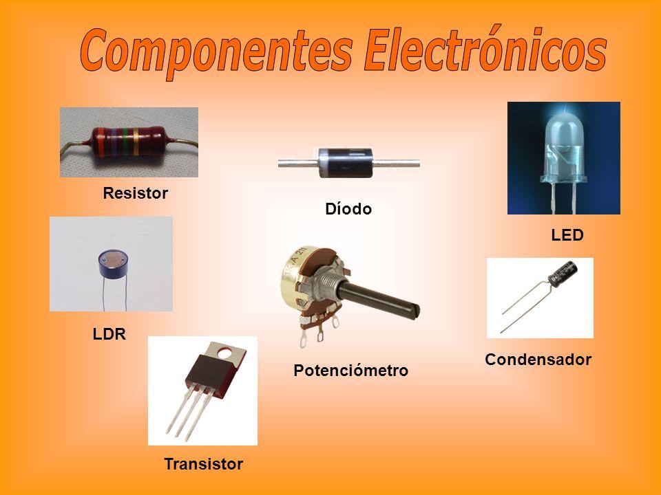 Resistor Díodo LED LDR Potenciómetro Condensador Transistor