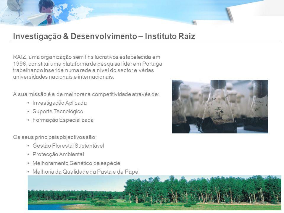 Investigação & Desenvolvimento – Instituto Raiz RAIZ, uma organização sem fins lucrativos estabelecida em 1996, constitui uma plataforma de pesquisa l