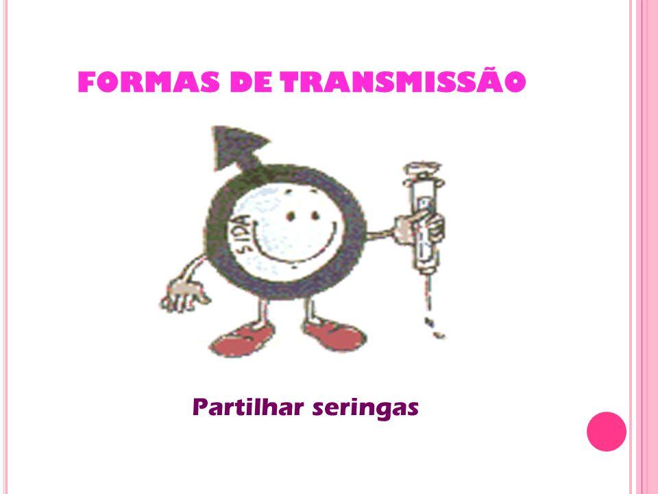 FORMAS DE TRANSMISSÃO Partilhar seringas