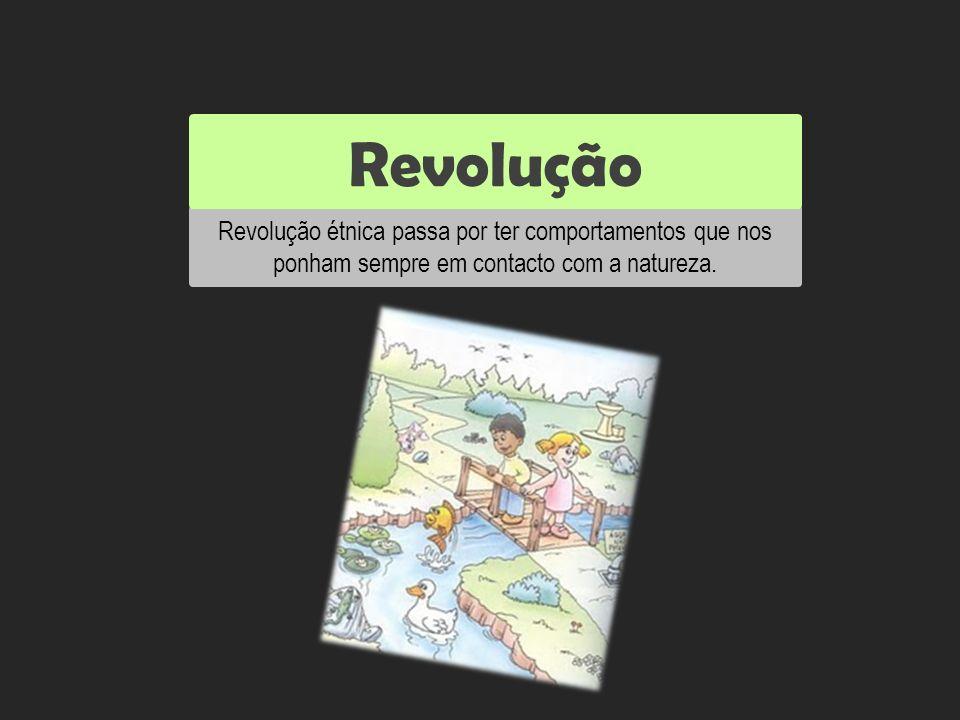 Revolução étnica passa por ter comportamentos que nos ponham sempre em contacto com a natureza. Revolução Reutilizar