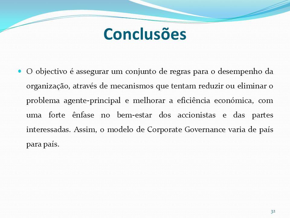 O objectivo é assegurar um conjunto de regras para o desempenho da organização, através de mecanismos que tentam reduzir ou eliminar o problema agente