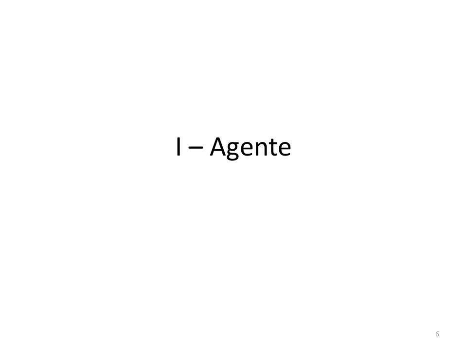 6 I – Agente