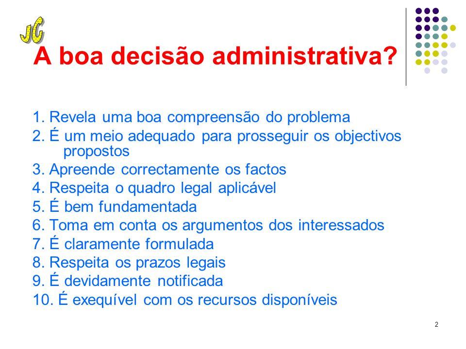 1 Uma decisão legal, prudente e acertada A melhor forma de evitar problemas à Administração Pública