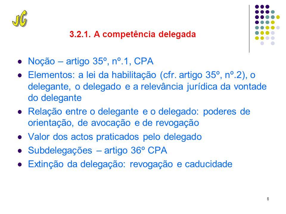 7 3.2. Verificação da competência 3.2.1. Indisponibilidade da competência – artigo 29º CPA 3.2.2.